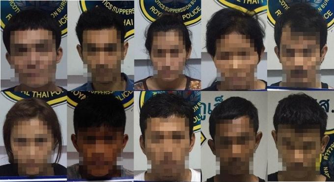 10 personnes arrêtées à Phuket dans le cadre de la campagne antidrogue anti criminalité