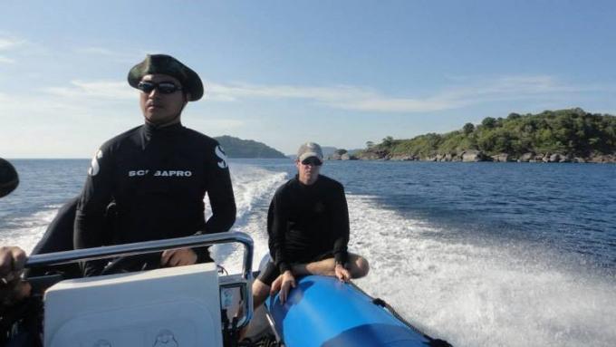 Les recherches du russe disparu en mer au large des iles Similans entrent dans leur neuvième jour