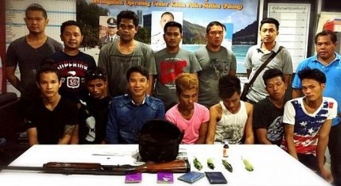 7 personnes arrêtés dans la lutte anti-drogue anti-criminalité pour l'avant songkran à Phuket