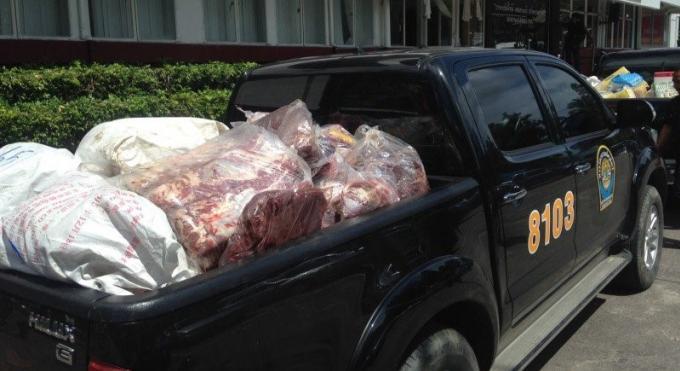 Les officiels saisissent plus de 1,000 kilos de bœuf illégalement importé