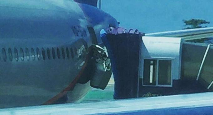 Avion endommagé, les officiels de l'aéroport enquêtent