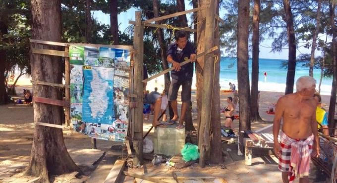 29 commerces illégaux démantelés a Nai Thon Beach