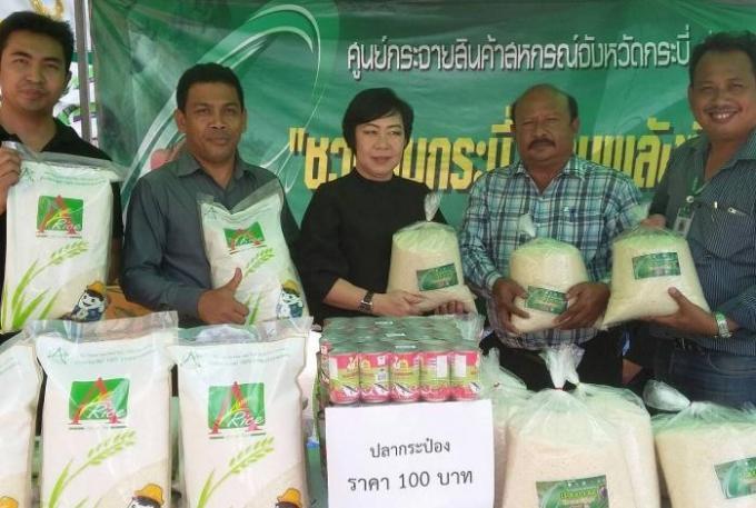 A Krabi, le riz se vend comme des petits pains