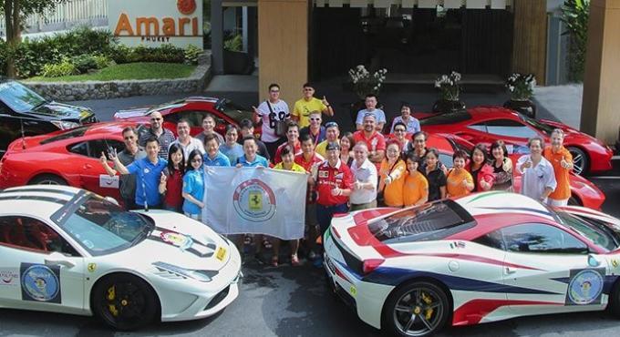 Le club Ferrari débarque dans les rues de Phuket