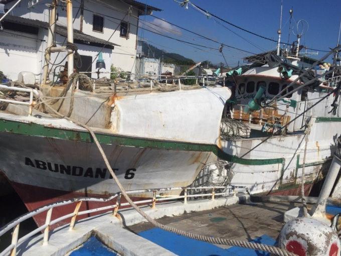 La marine saisi des bateaux de pêche IUU illégaux