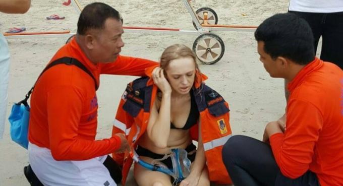 Une polonaise secourue par la marine au large de Phuket
