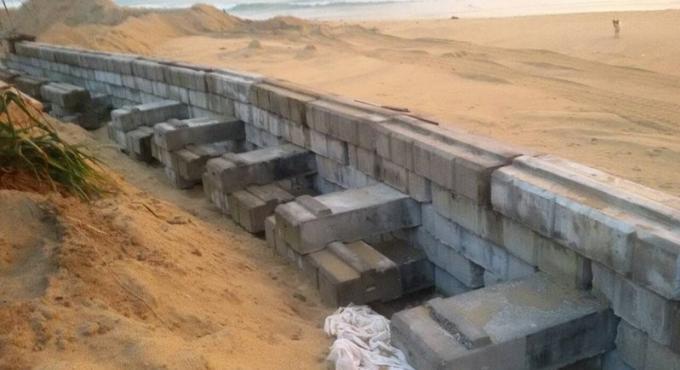 Le projet de protection des plages contre l'érosion a l'arrêt