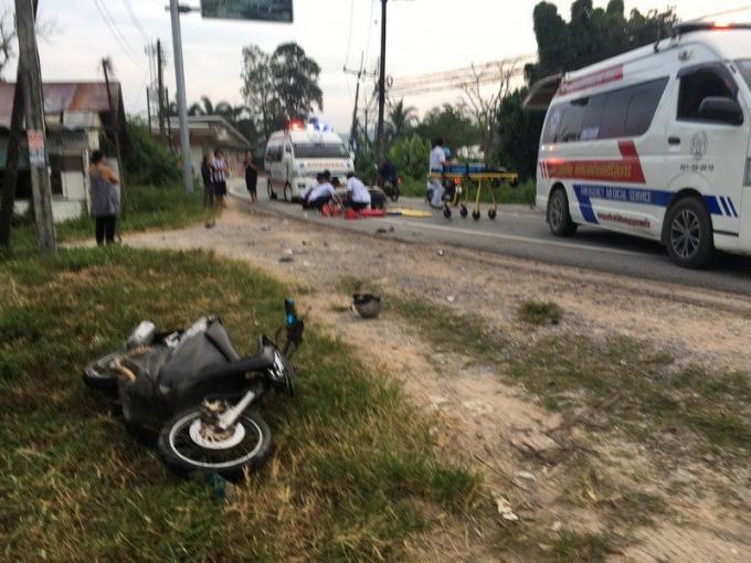 Deux personnes hospitalisées apres une collision face à face en scooter