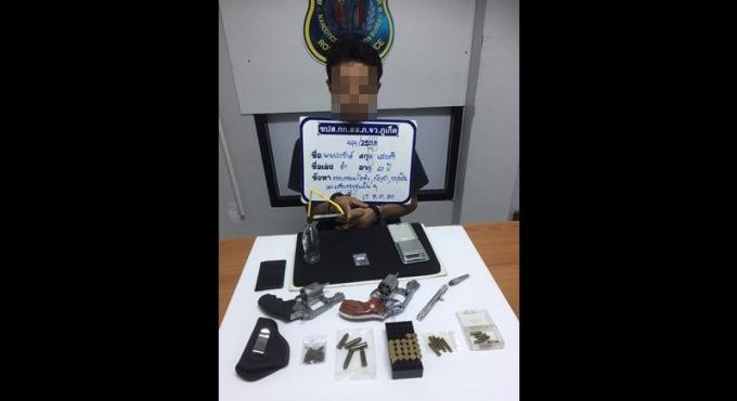 Un thaï arrêté à Phuket avec 3 armes, des munitions et de la drogue