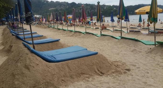 La maire de Patong impuissante face aux 'chaises longues de sable'