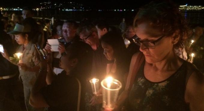Patong Beach illuminée en souvenir du tsunami