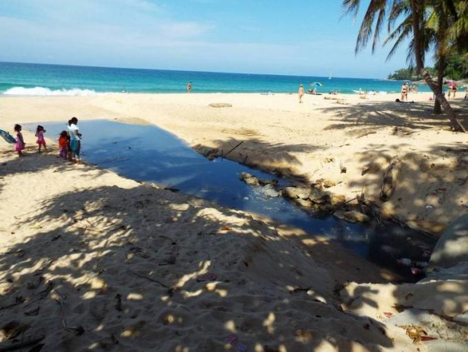 Back in black : les eaux usées font leur retour sur Surin Beach