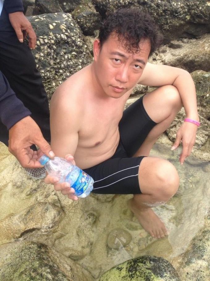 Un touriste chinois arrêté en train de braconner des poissons perroquets