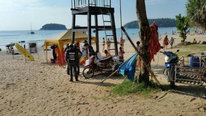 Un touriste russe glisse sur les rocher et se noie à Kata Beach
