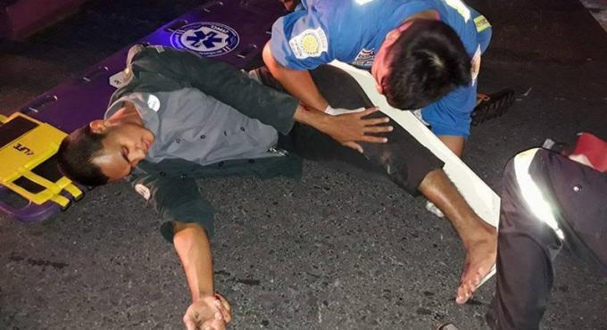 Une jambe cassée après une collision avec un pickup