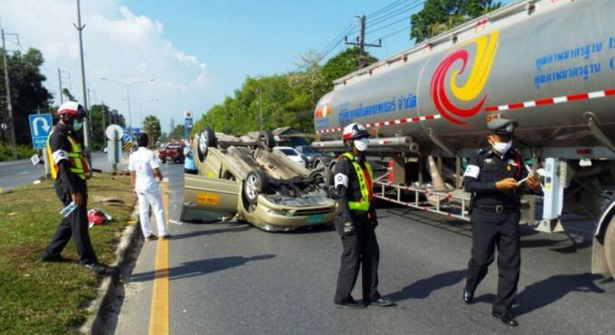 Un taxi inculpé après un accident spectaculaire