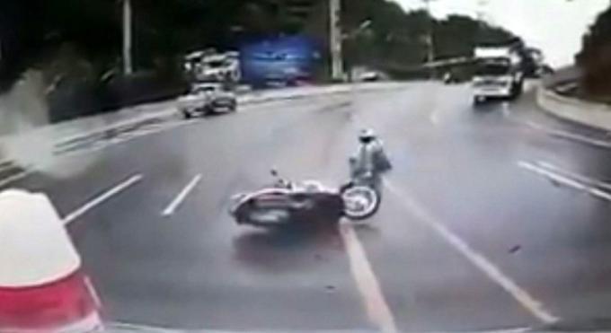 Les dernières pluies à Phuket ont apportées leurs lots d'accidents de scooters