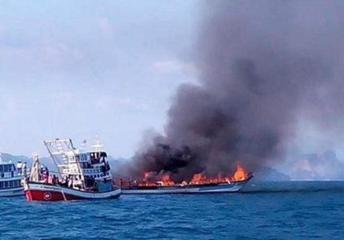 L'enquête préliminaire montre que le feu du ferry de Krabi n'est pas causé par un service de nég