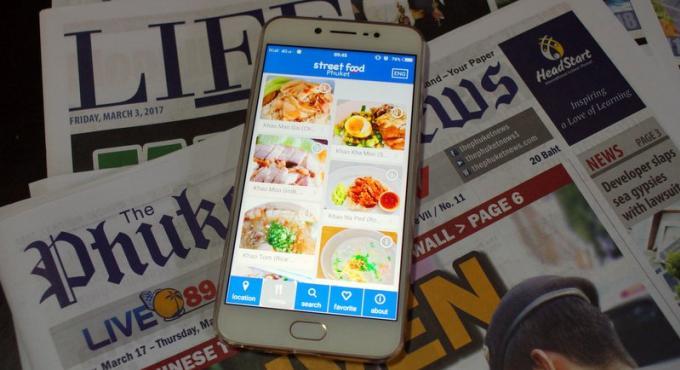 La nouvelle application 'Phuket Street Food' est disponible, et elle est plutôt pas mal