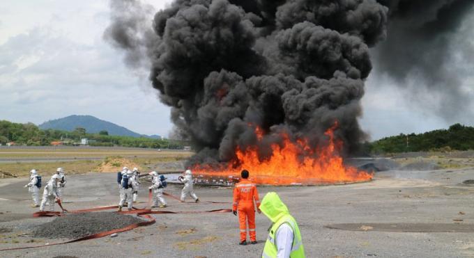 L'incendie à l'aéroport n'était qu'un exercice