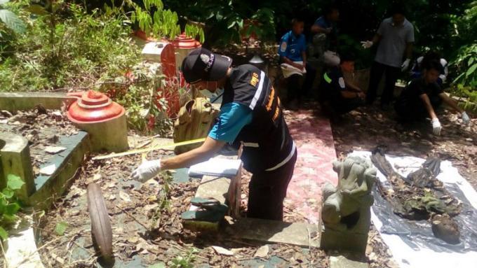 Un squelette décapité retrouvé dans le réseau d'évacuation d'un cimetière de Phuket