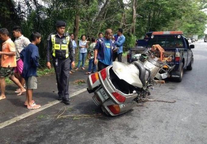 Un motard tué dans l'accident de Chumphon