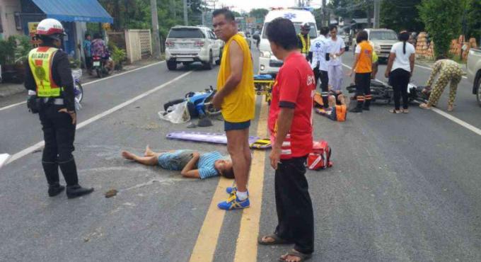 Une femme paralysée après un accident de scooter à Phuket