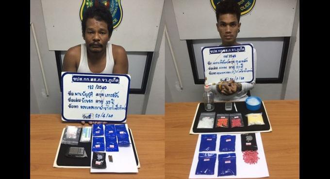 Deux thaïs arrêté à Phuket pour possession de drogue
