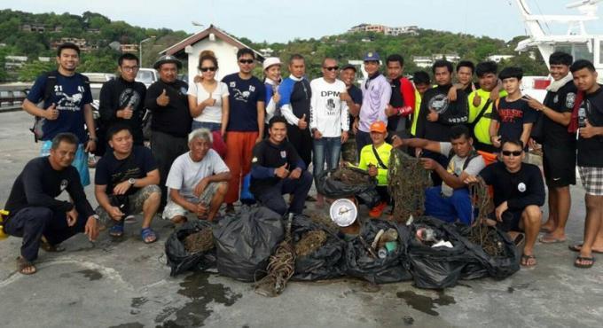 Le nettoyage de la plage permet de collecter 133kg de déchets