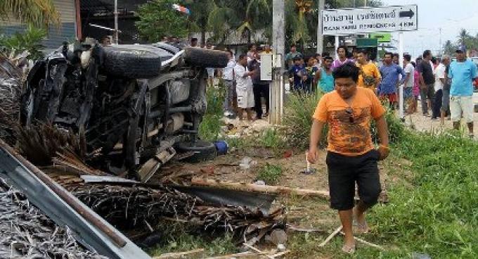 6 travailleurs blessés dans un accident de Pick-up