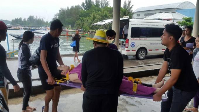 Une chinoise et un coréen sauvés de la noyade
