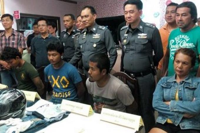 les 4 voleurs arrêtés pour le vol à main armé dans un Spa de Phuket
