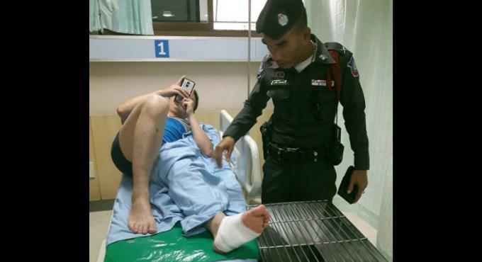Touriste chinois blessé, les sauveteurs de Patong disent par une raie, les médecins par un crabe