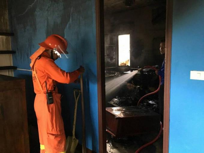 La maison d'un expat détruite par un incendie d'origine électrique