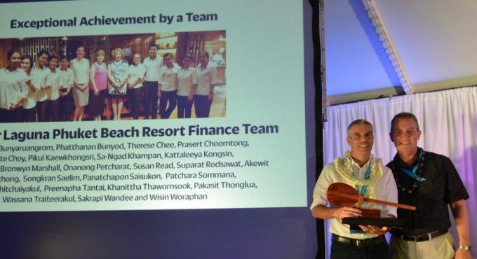 L'équipe financière d'Outrigger Laguna Phuket récompensée à Hawaii