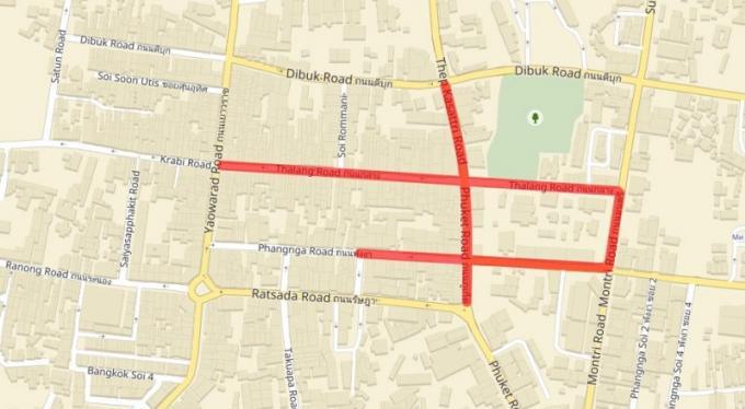 Des rues de Phuket Town fermées pour la visite de SAR la princesse Sirindhorn