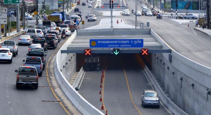 Un tunnel de Phuket fermé pour réparations