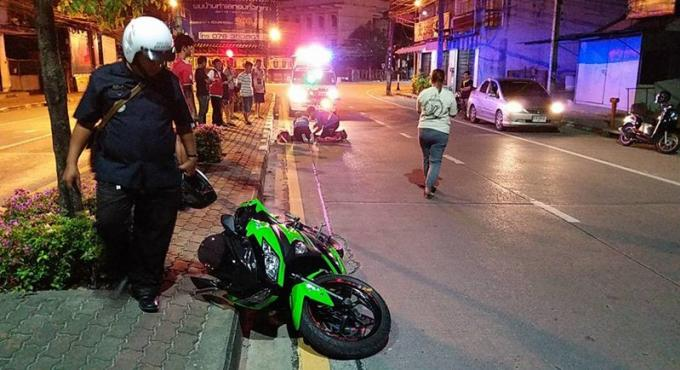 Un motard survie après un autre accident au guidon d'une 'Ninja'