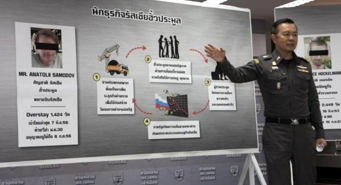 Un russe recherché pour braquage à main armée arrêté à Phuket
