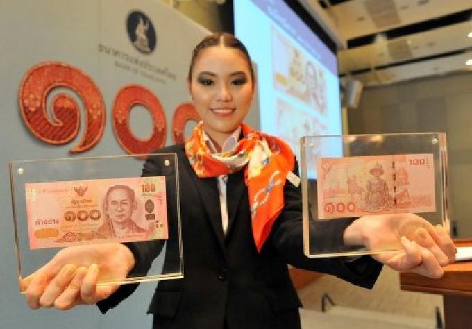 Les nouveaux billets de 100 bahts sortent aujourd'hui
