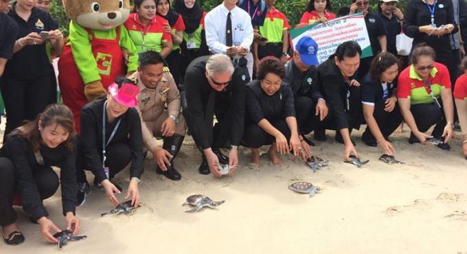 Le DMCR et la municipalité de Patong lance le projet de protection de l'environnement marin à l�