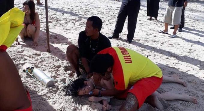 Les sauveteurs sauvent trois touristes chinoises de la noyade