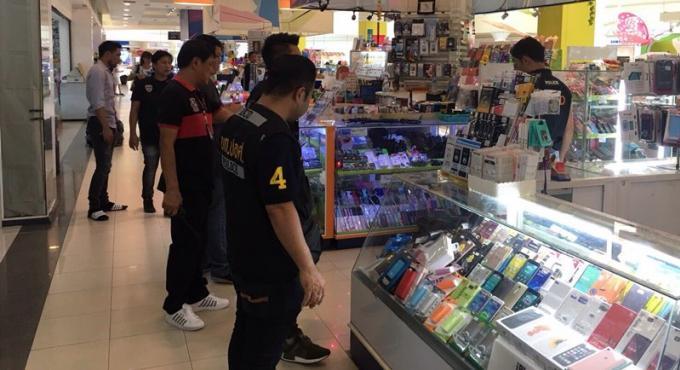Un raid dans un centre commercial permet la saisie de 500.000 baths de produits contrefaits