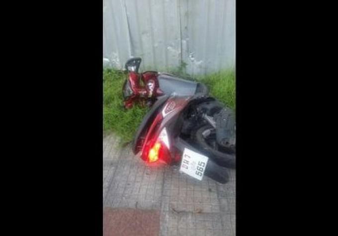 Un australien a été emmené à l'hôpital ce matin pour un accident de scooter