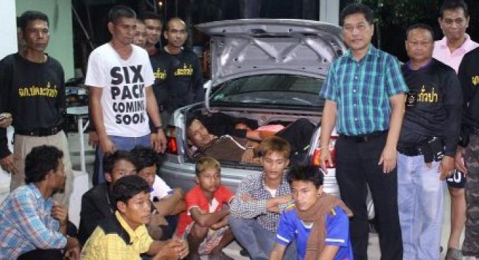 Un contrebandier et 10 migrants arrêtés à Phuket