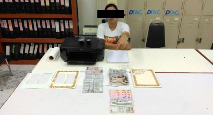Une birmane arrêtée avec des faux billets
