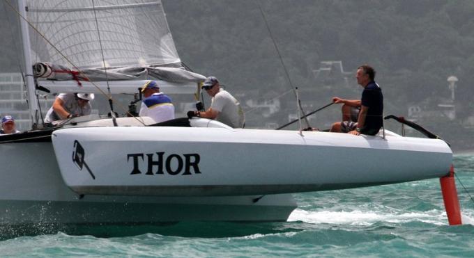 Thor victorieux de la Phuket Multihull Solutions Regatta