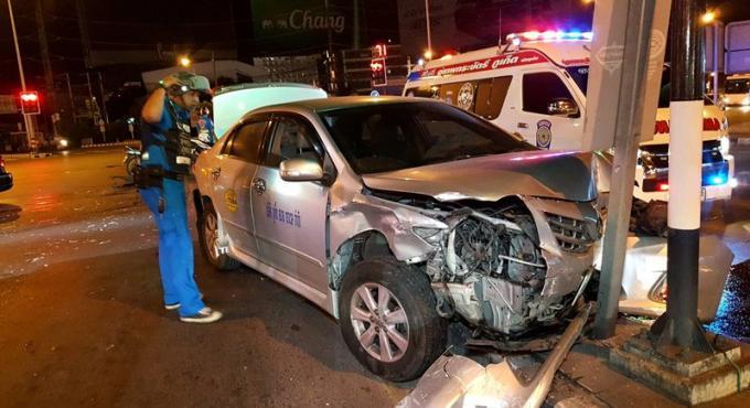 Une touriste chinoise blessée dans une collision a l'intersection Darasamut