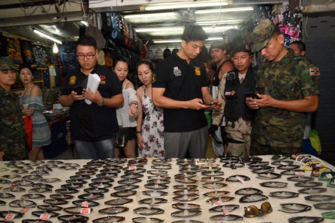 B500.000 de produits de contrefaçon saisis lors d'un raid dans un marché de Phuket