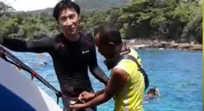 Un guide illégal arrêté alors qu'il nourrissait des poissons